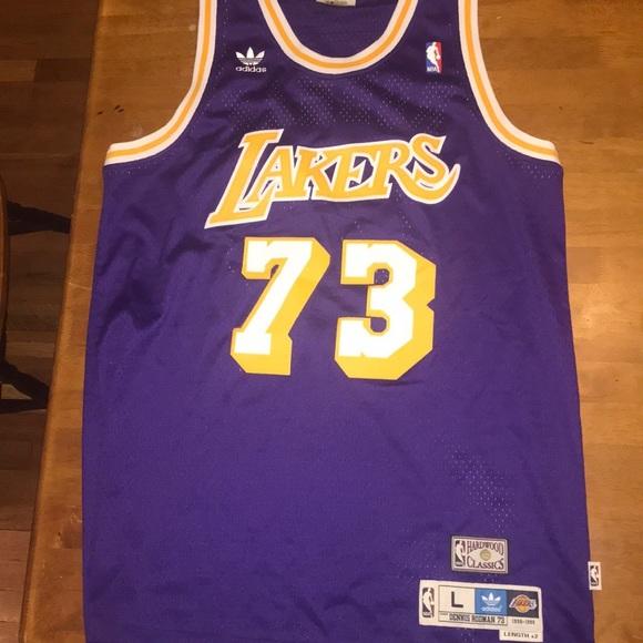 adidas Other - Dennis Rodman Lakers Jersey 9b5461404